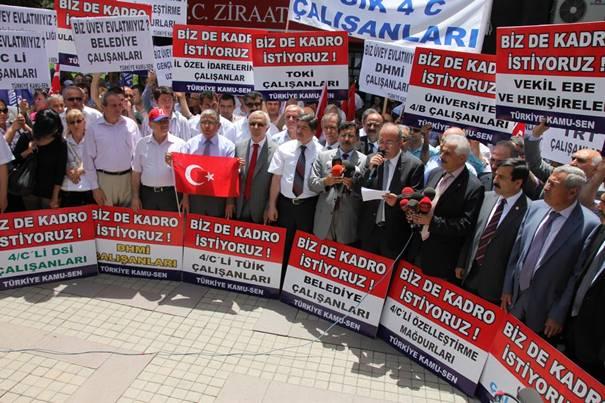 Türkiye Kamu-Sen mağdur sözleşmelilerin sesi oldu 4