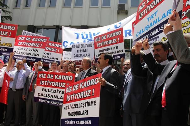 Türkiye Kamu-Sen mağdur sözleşmelilerin sesi oldu 8