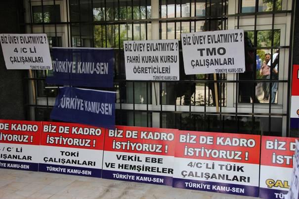 Türkiye Kamu-Sen mağdur sözleşmelilerin sesi oldu 9