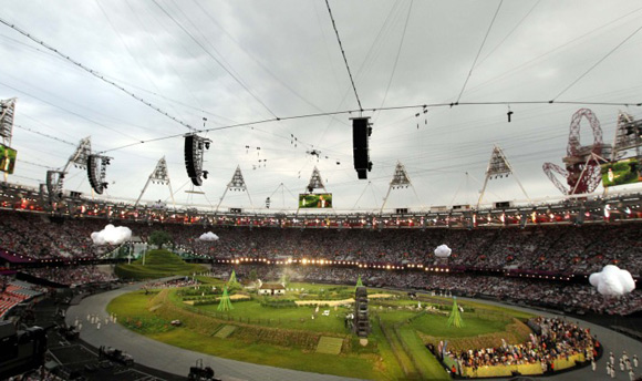 2012 Londra Olimpiyat Oyunları başladı 2
