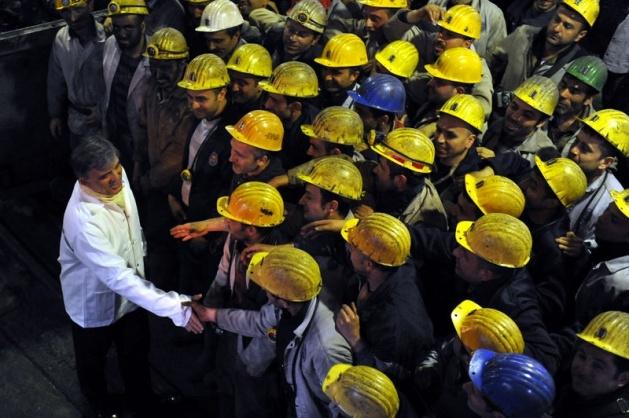 Gül'den madencilere sürpriz ziyaret 1