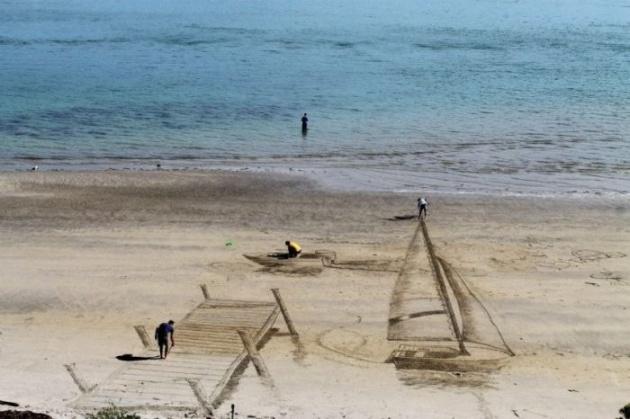 3 boyutlu inanılmaz kum sanatı 1
