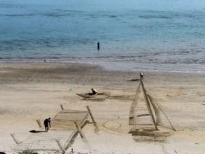 3 boyutlu inanılmaz kum sanatı