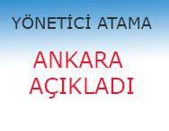 Ankara MEM İsteğe Bağlı Yönetici Atama Sonuçları