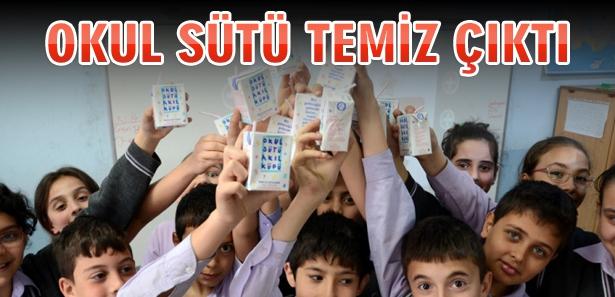 Okullarda dağıtılan süt temiz çıktı