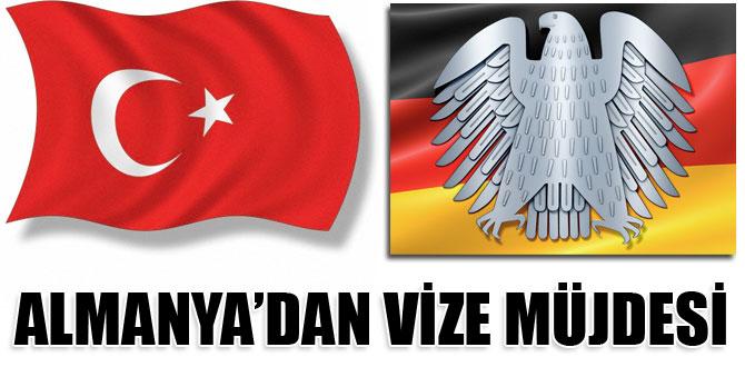 Almanyadan Türkiyeye vize kolaylığı