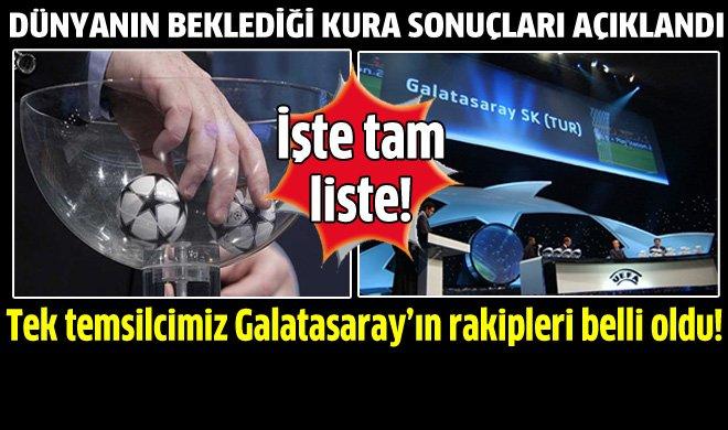 Galatasarayın Şampiyonlar Ligi rakipleri