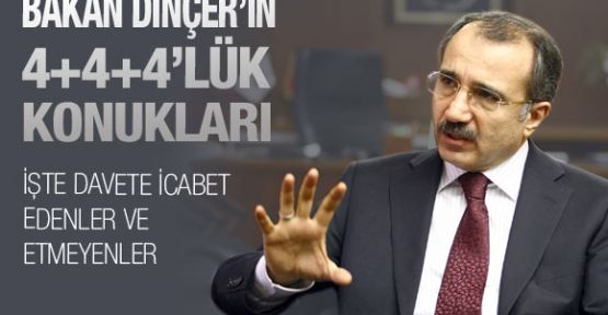 Bakan Dinçer'in 4+4+4'lük konukları