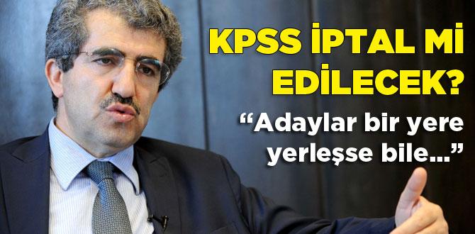 Ali Demirden KPSS açıklaması