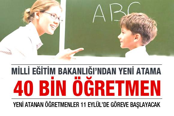 MEBden 40 bin öğretmen için atama!