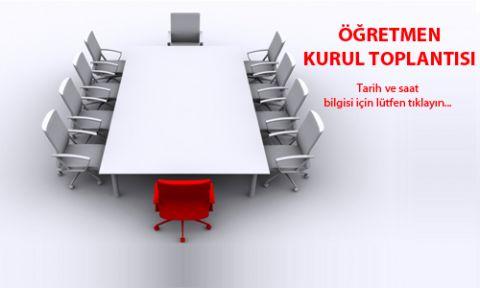 Öğretmenler Kurulu Toplantı Gündem Maddeleri