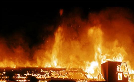 İzmirde öğretmenevinde yangın