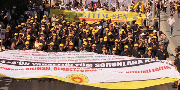 Eğitim-Sen'in 4+4+4 Eylem Ankara'da Yapıldı