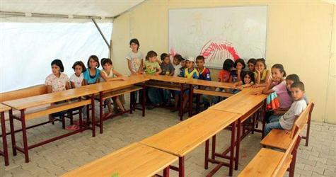 Çadır sınıflar eğitime hazır