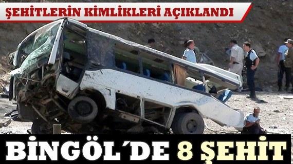Bingölde mayınlı saldırı: 8 polis şehit
