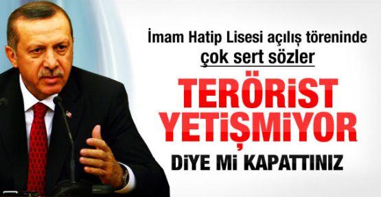 Erdoğan İmam Hatip Lisesi açılış töreninde konuştu