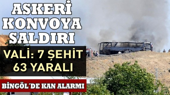 Askeri konvoya saldırı: 7 şehit