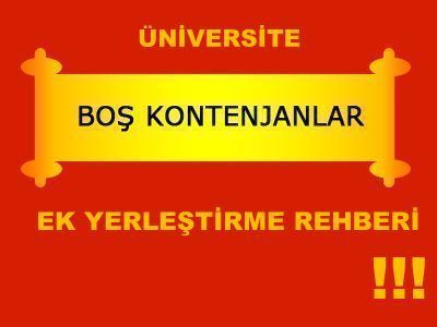 Üniversitelerin Boş Kontenjaları 2012