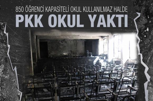 PKK Şemdinlide okul yaktı!