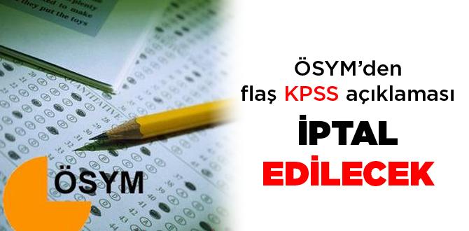 ÖSYMden KPSS açıklaması