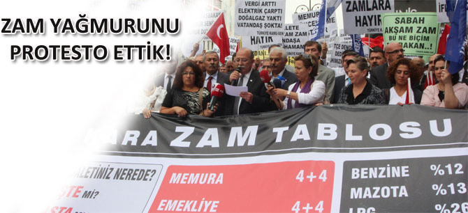 Kamu-Sen'den Zam Yağmuruna Protesto