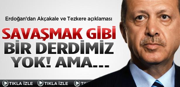 Başbakan Erdoğan'dan Suriye'ye sert tavır
