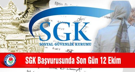 28 Şubat Mağduru Kamu Görevlilerinin SGK'ya Başvurusunda Son Gün 12 Ekim