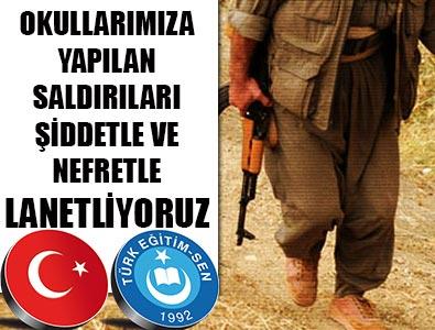 Türk Eğitim-Senden Okul Saldırılarına Kınama