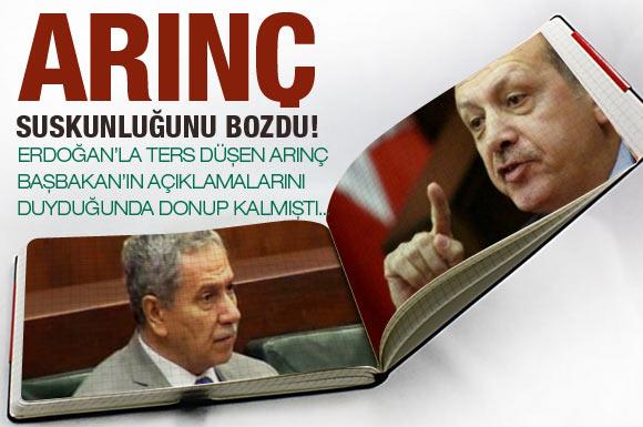 Erdoğanla ters düşen Arınçtan samimi açıklama!