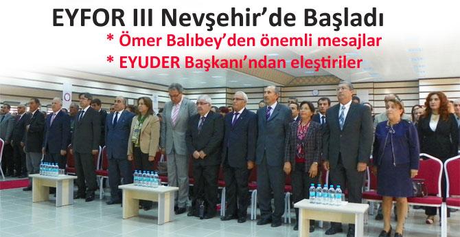 Eğitim Forumu III Nevşehirde başladı