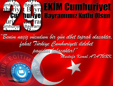 Genel Başkan İsmail KONCUK'un 29 Ekim Mesajı