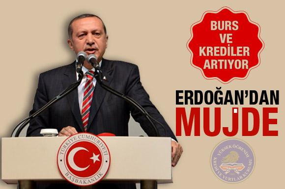 Erdoğan'dan üniversitelilere müjde