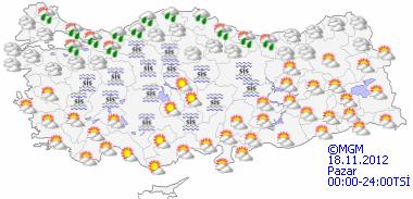 Kuvvetli yağış uyarısı/ Haritalı