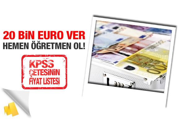20 bin Euro ver hemen öğretmen ol!