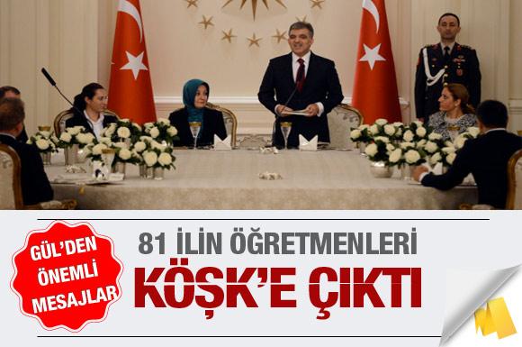 81 ilin öğretmenleri Köşk'e çıktı!