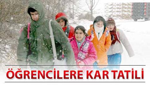 Kar tatili olan iller 12 Aralık 2013