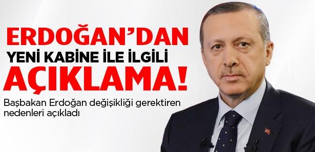 Erdoğan'dan yeni kabine ile ilgili ilk açıklama