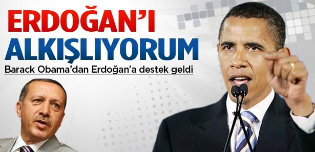 Obama'dan Erdoğan'a destek geldi