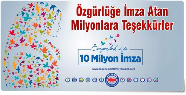 Özgürlüğe İmza Atan Milyonlara Teşekkürler