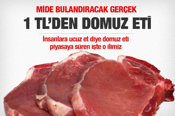 Ucuz et diye domuz eti yediriyorlar