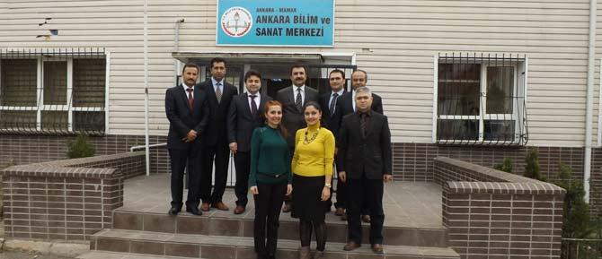 Ankara Bilim Sanat'a Kaymakam ve İlçe MEM Ziyareti