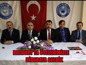 Türk Eğitim Sen Yöneticileri Bayburtta