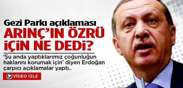 Erdoğan, Bülent Arınç'ın 'özür'ü için ne dedi?