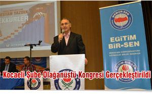 Kocaeli Şube Olağanüstü Kongresi Gerçekleştirildi