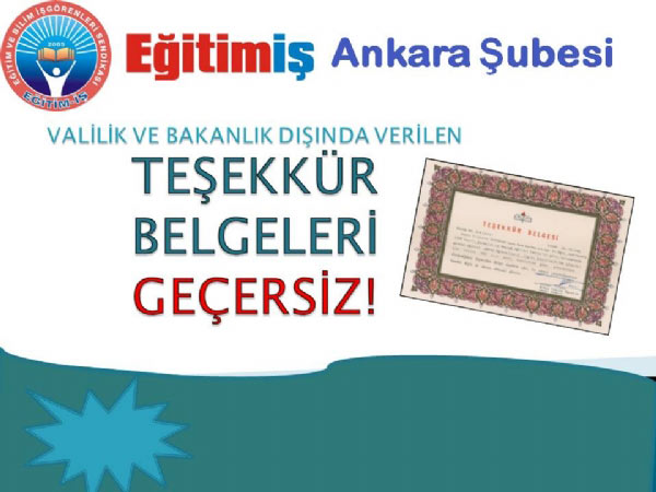 Yönetici Atamada Her Teşekkür Belgesi Geçerli Değil