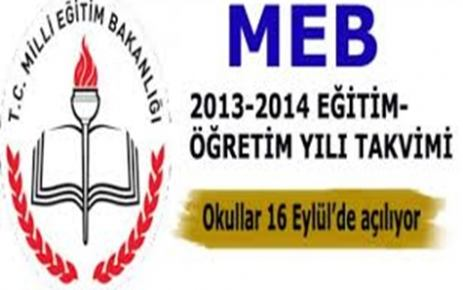 2013-2014 iş takvimi ve resmi tatiller