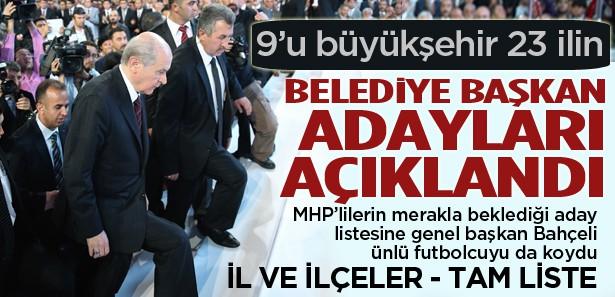 İşte MHP'nin Belediye Başkan Adayları