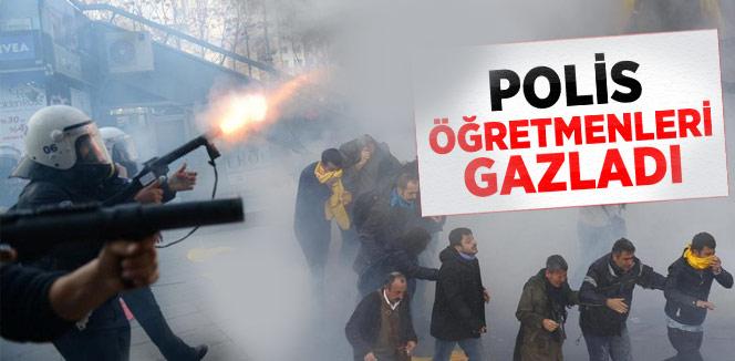 KESK ve EĞİTİM-SEN'e Polisten Gazlı Müdahale