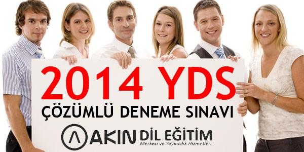 2014 YDS için Çözümlü Deneme Sınavı