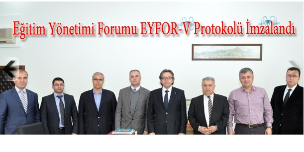 EYFOR-V Protokolü İmzalandı